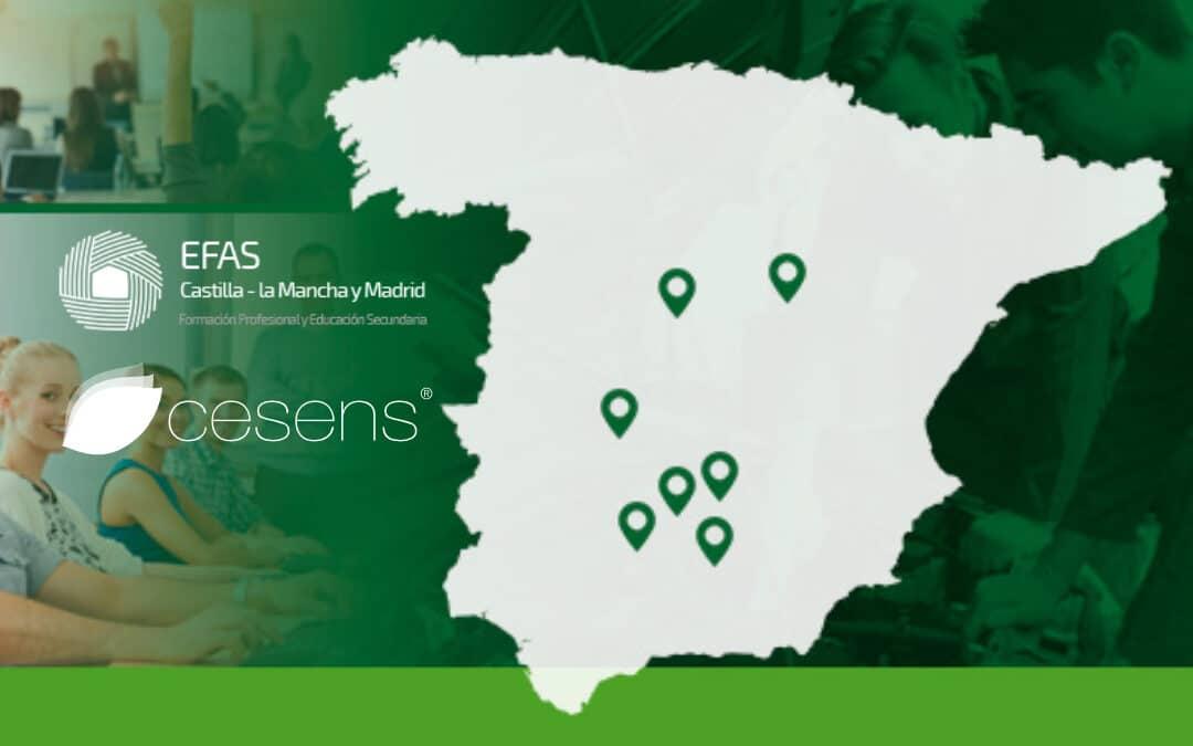 Cesens en los centros de formación profesional en zonas rurales EFAS