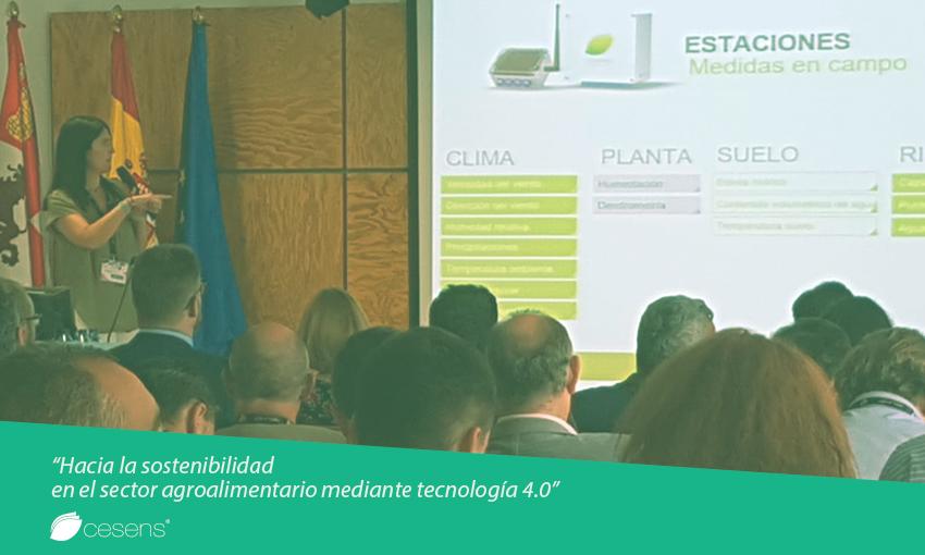 """Cesens® en el seminario """"Hacia la sostenibilidad en el sector agroalimentario mediante tecnología 4.0"""""""